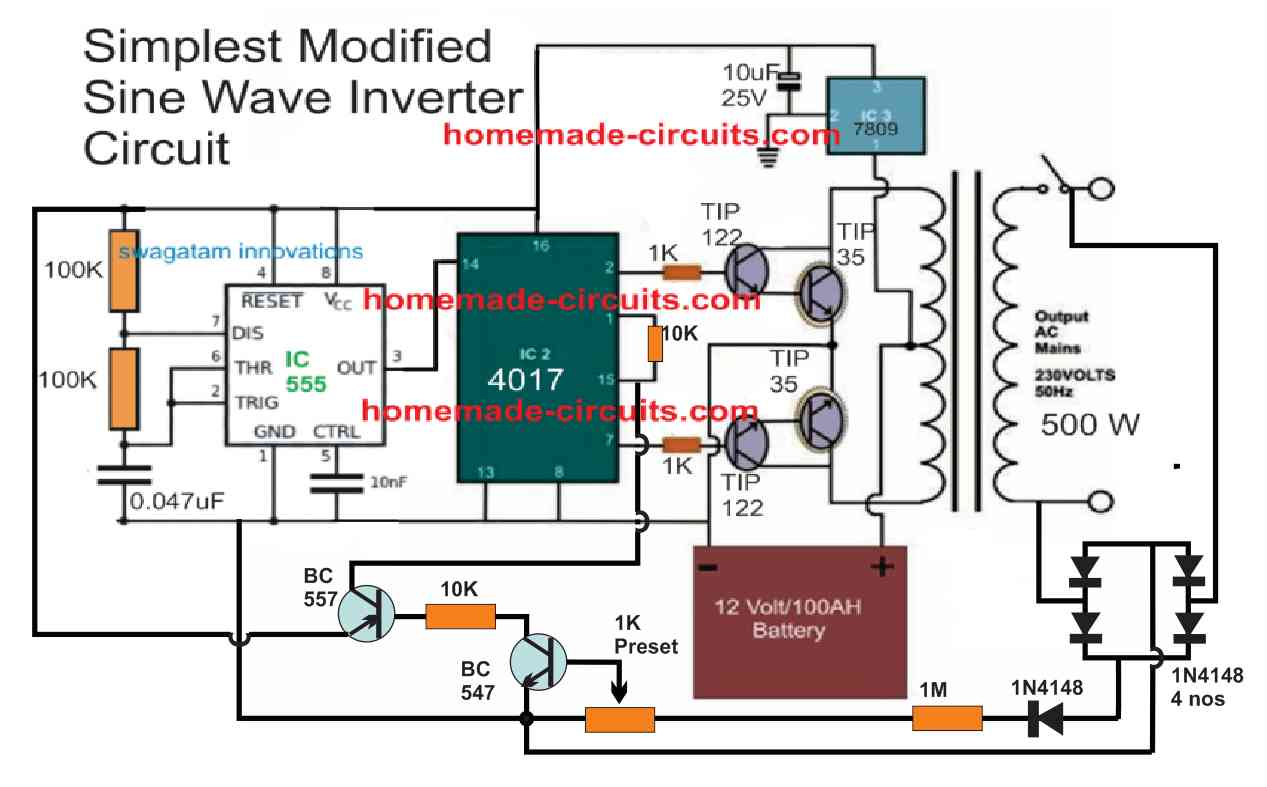 4017 inverter with feedback control
