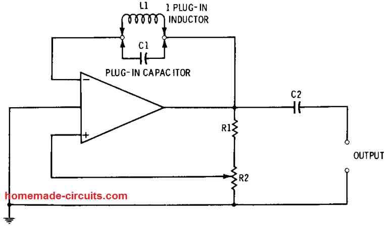 op amp oscillator using AF and RF combination