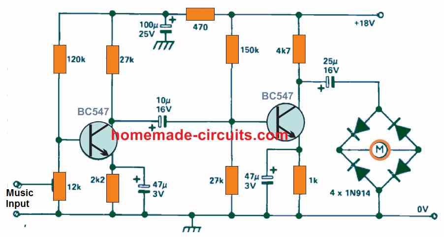 VU Meter using moving coil voltmeter