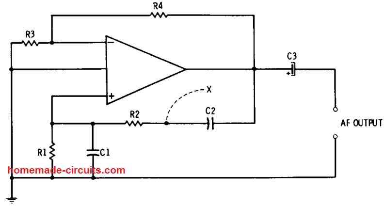 Wien bridge op amp oscillator circuit