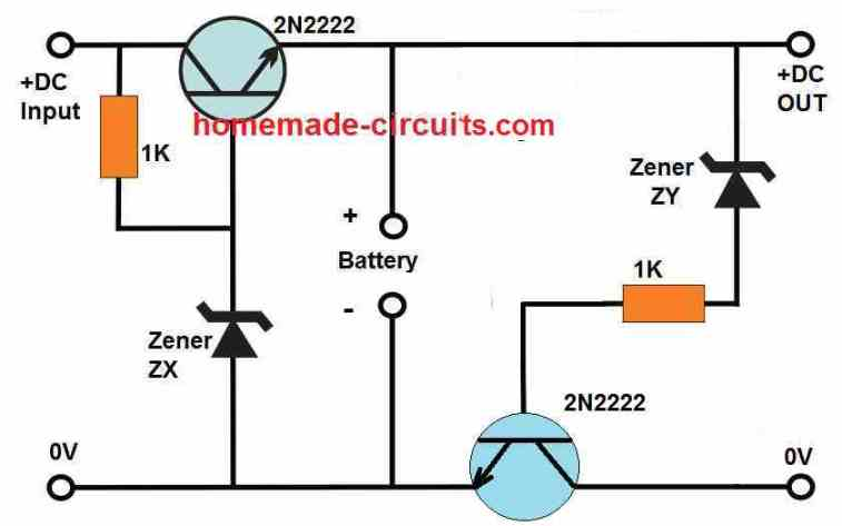 high low battery cut off for emergency light circuit