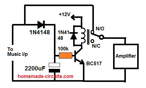 Music off speaker off circuit eco mode circuit