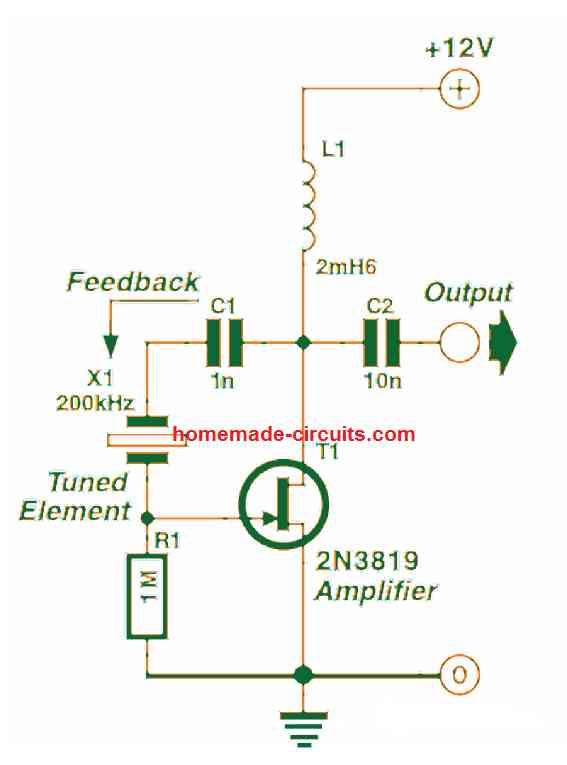 using crystal in pierce oscillator circuit