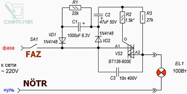 BT136 power supply