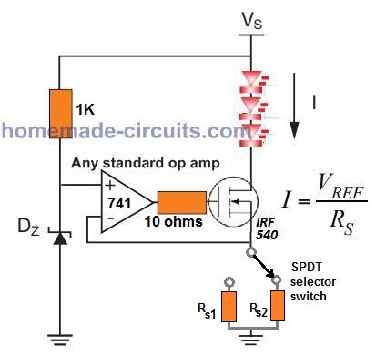 current limiter for car LED dimmer dipper
