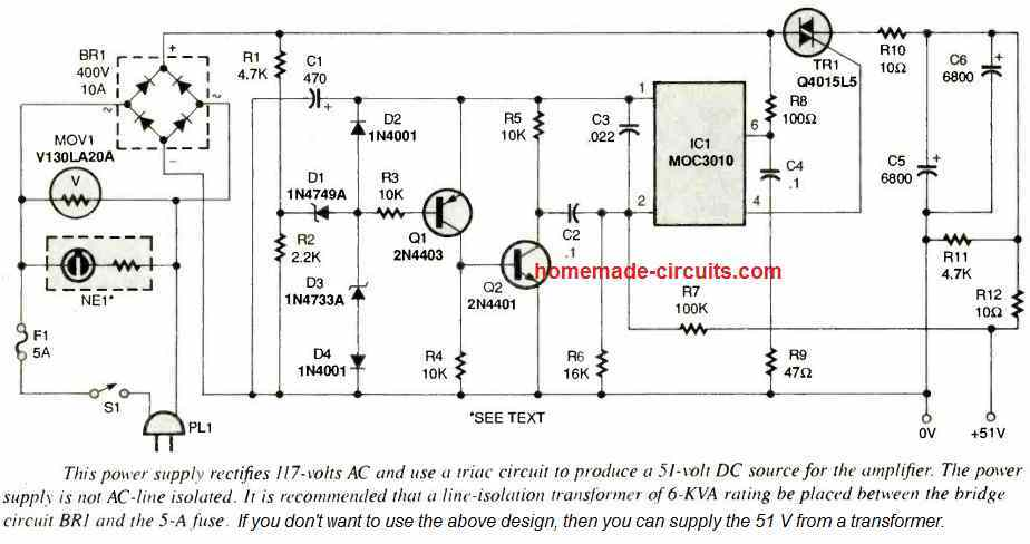 switching amplifier power supply