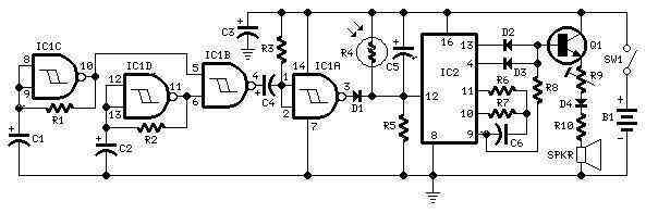 cricket chirping sound simulator circuit