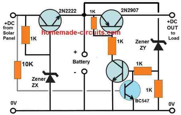 solar street light wit transistors, and auto cut off