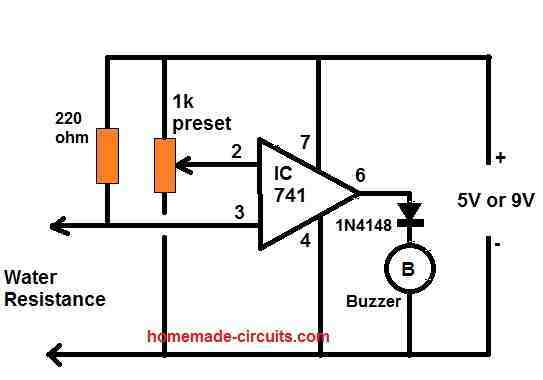 water level buzzer sensor