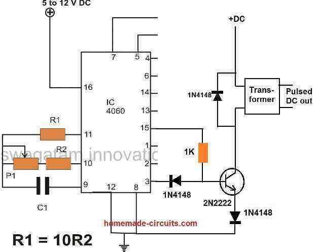 tetanic stimulation using IC 4060 oscillator